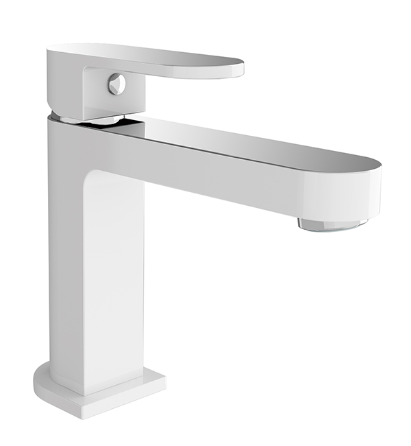 Ecco Basin Mixer White Chrome