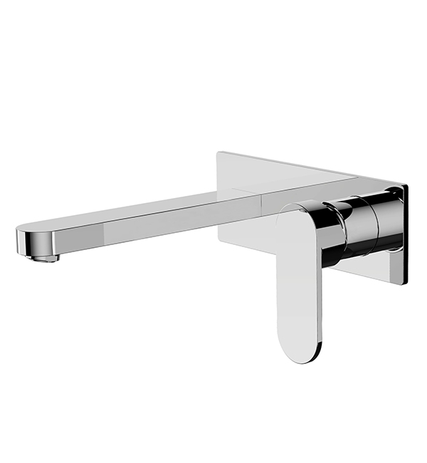 Ecco Wall Basin Mixer Chrome