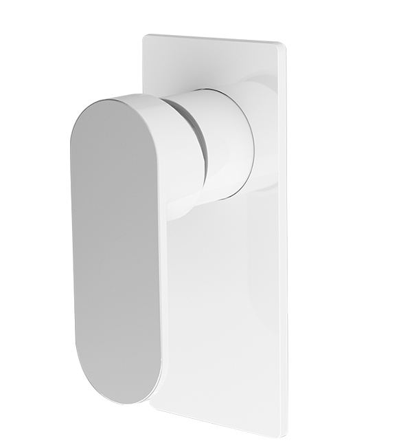 Ecco Shower Mixer WHITE Chrome