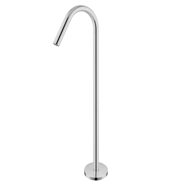 Bianca Floor Standing Bath Spout Brushed Nickel