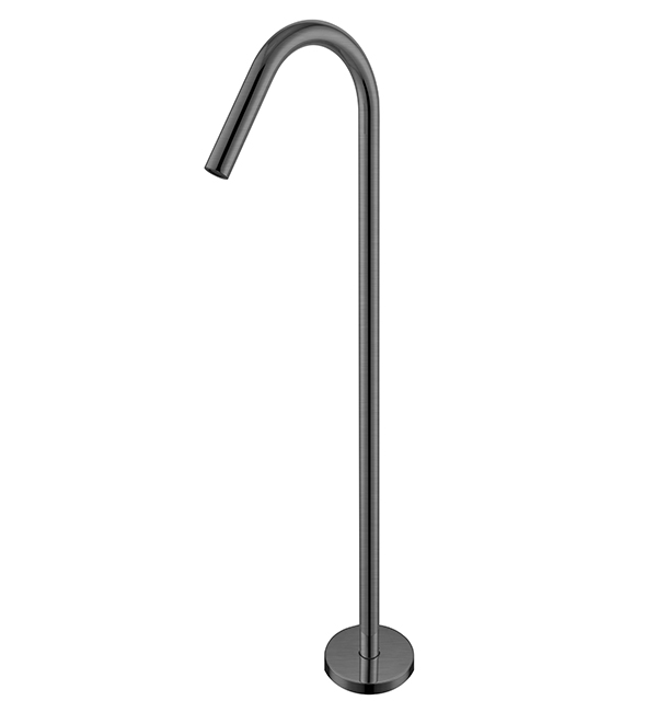 Bianca Floor Standing Bath Spout Gun Metal Grey