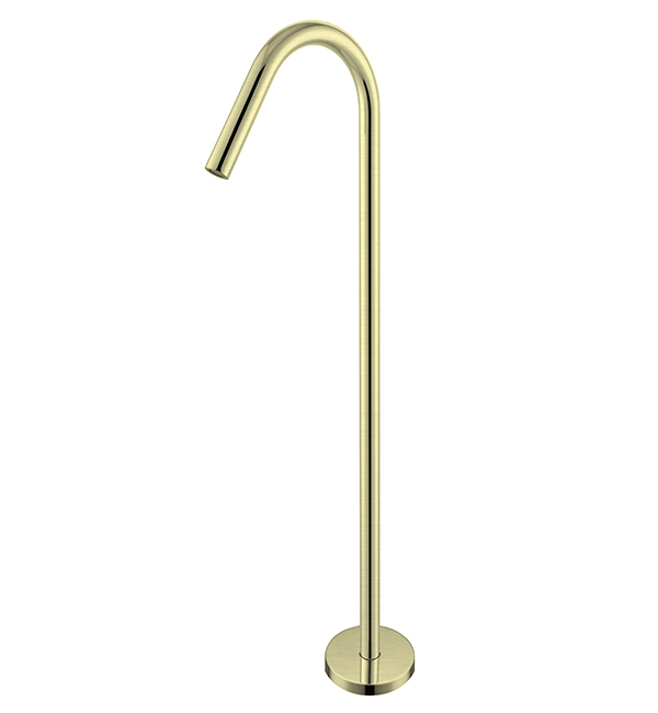 Bianca Floor Standing Bath Spout Brushed Gold