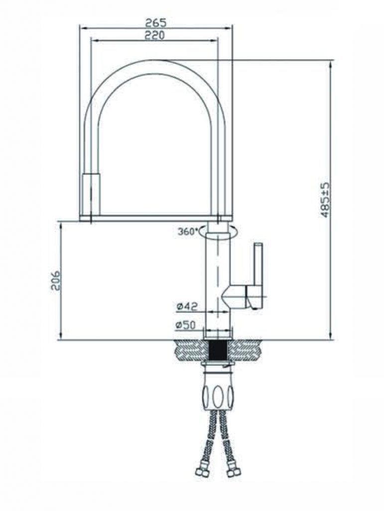 Rit Pull Out Sink Mixer