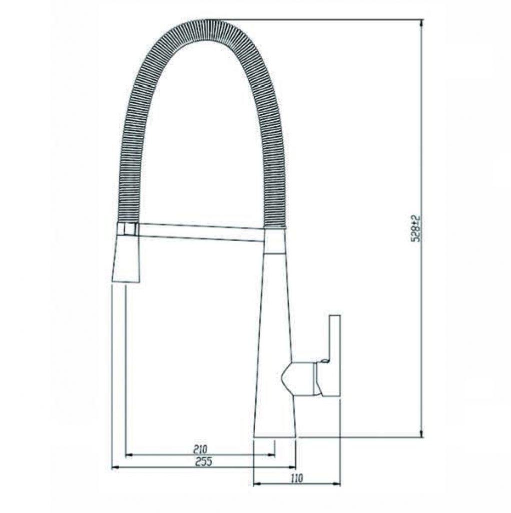 Macro Pull Out Sink Mixer Dimensions