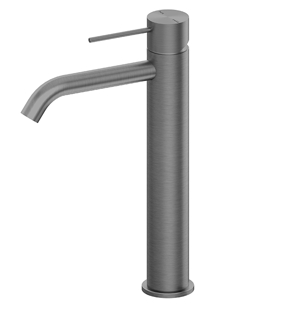 Mecca Tall Basin MIxer Gun Metal Grey