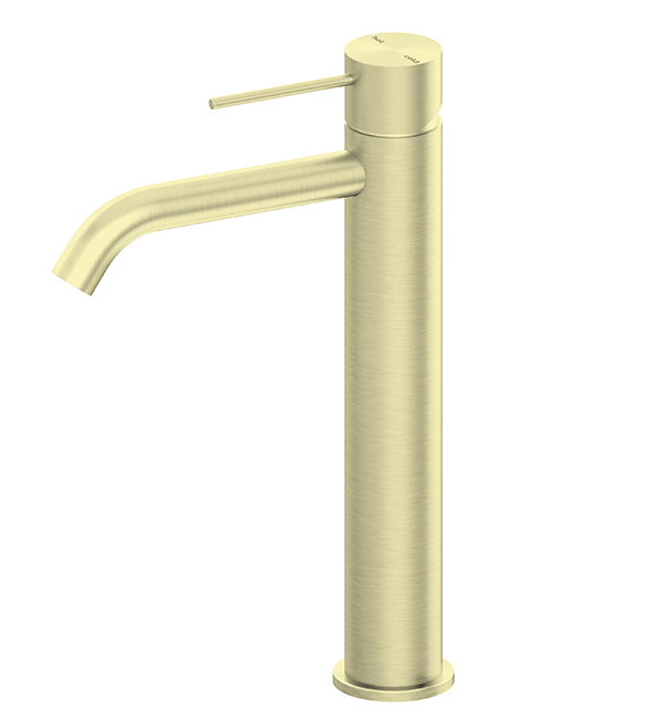 Mecca Tall Basin Mixer Brushed Gold