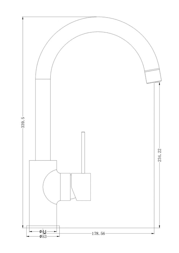 Mecca Kitchen Mixer Dimensions