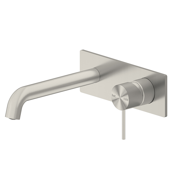 Mecca Wall Basin Mixer Brushed Nickel