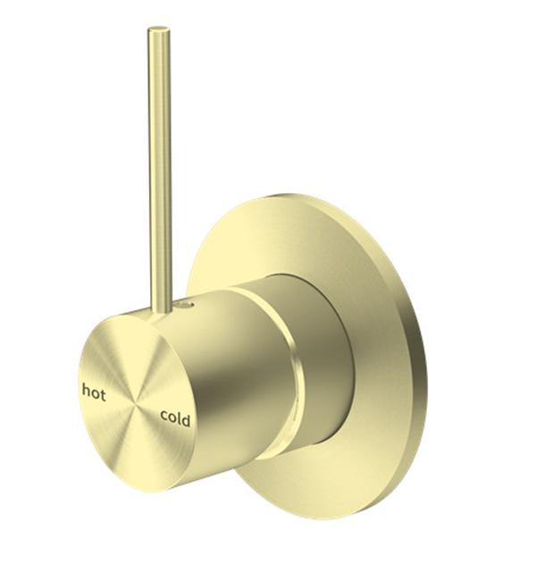 Mecca Shower Mixer Gun Brushed Gold Handle Up