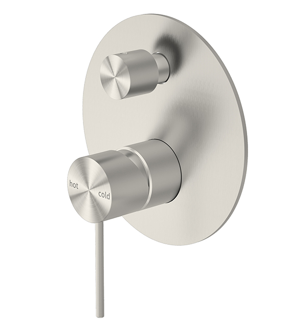Mecca Shower Diverter Mixer Brushed Nickel