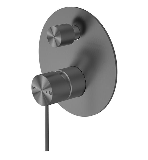 Mecca Shower Diverter Mixer Gun Metal grey