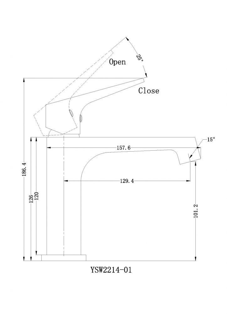 Victor Basin Mixer Dimensions
