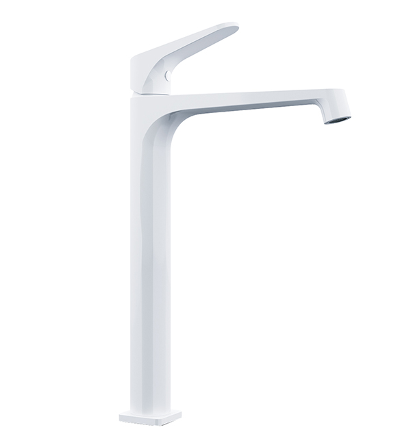 Victor Tall Basin Mixer White