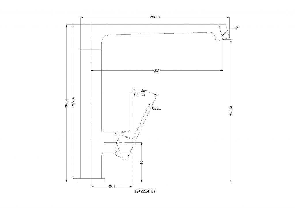 Victor Kitchen Mixer Dimensions