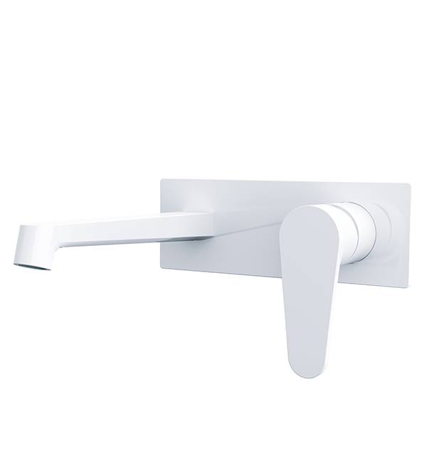 Victor Wall Basin Mixer White