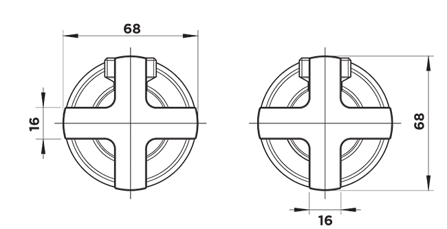 ou1020 Washing Machine Taps dimensions