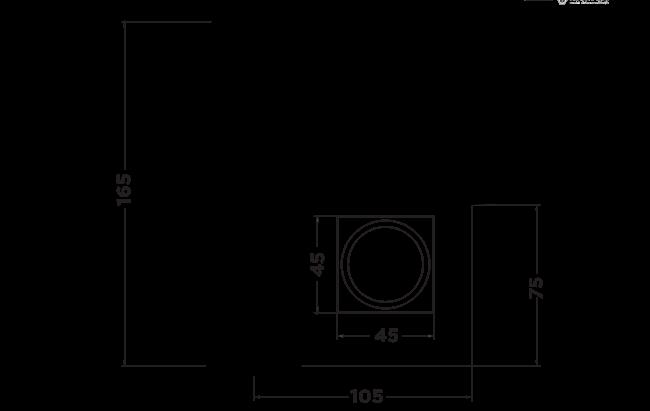 r1005 Rubic Basin Mixer dimensions