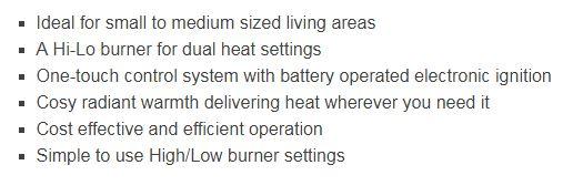 ROF1010 Rinnai econoheat 850 gas room heater features