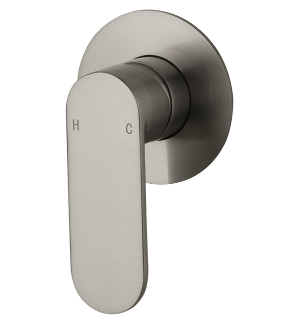 Saffron Shower Wall Mixer Brushed Nickel