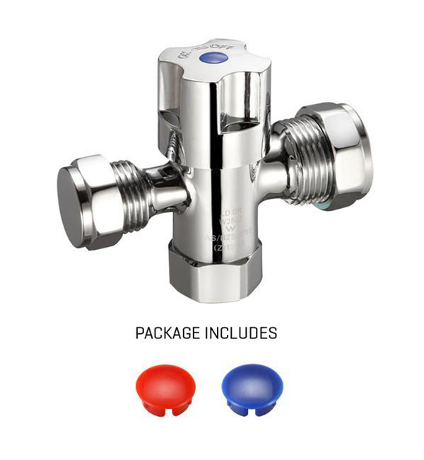 Dual Isolated Stop Cock Swivel Nut