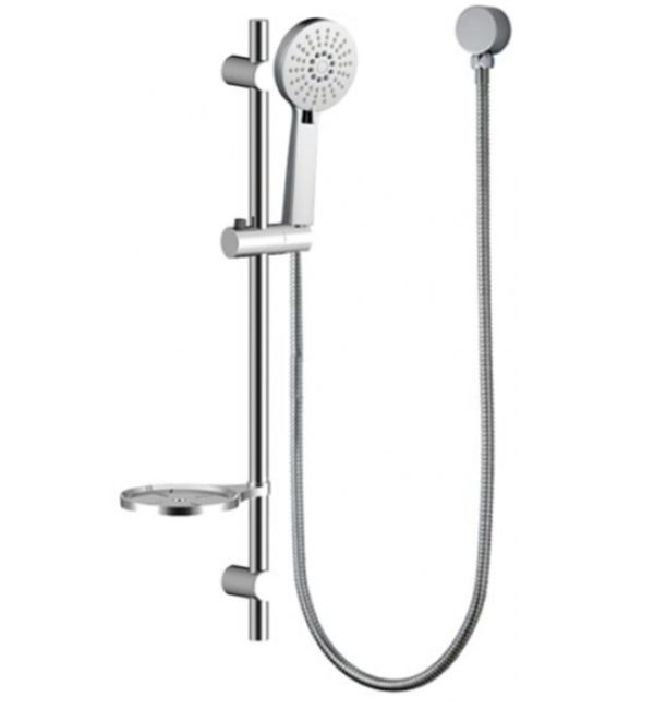 shr1070 shower rose hand held with rail and soap dish