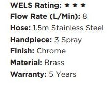 shr2015 round twin shower deluxe wels rating