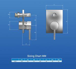 tab1015 Pino SHower Mixer Diverter