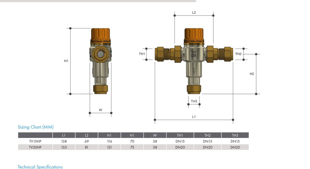 15mm Tempering Valve High Performance