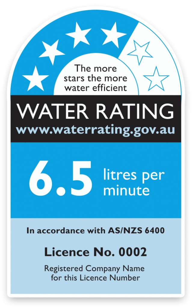WELS water rating label